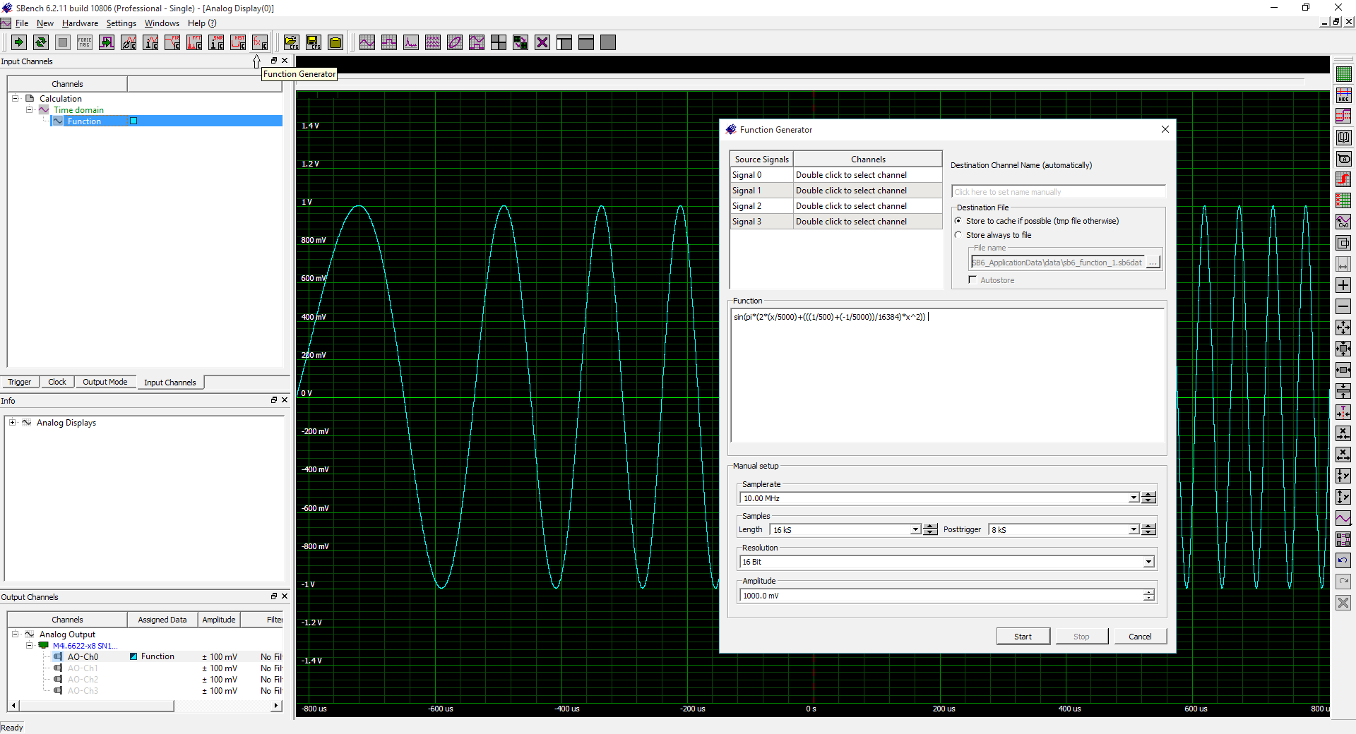 Awg Introduction Spectrum Arbitrarydutycycle Squarewave Oscillator Circuit Diagram Creating Waveform Using Equations In Sbench 6