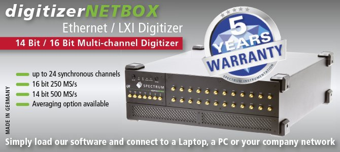 High-resolution and high-speed digitizers and AWGs | Spectrum
