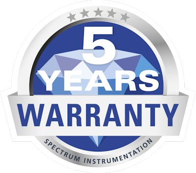 Spectrum 5 years warranty seal