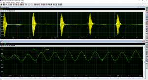 Screenshot of acquired Ultrasonic Signal