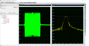 SBench 6 screenshot with swept frequency radar chirp