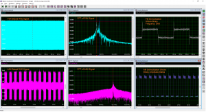 Screenshot with demnodulated RKE signals