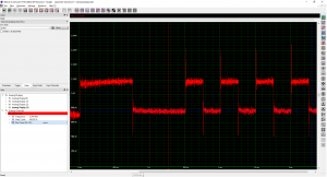 Screenshot og demodulated FSK signals
