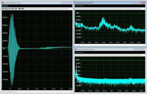 FFT of ultrasonic 40 kHz pulse